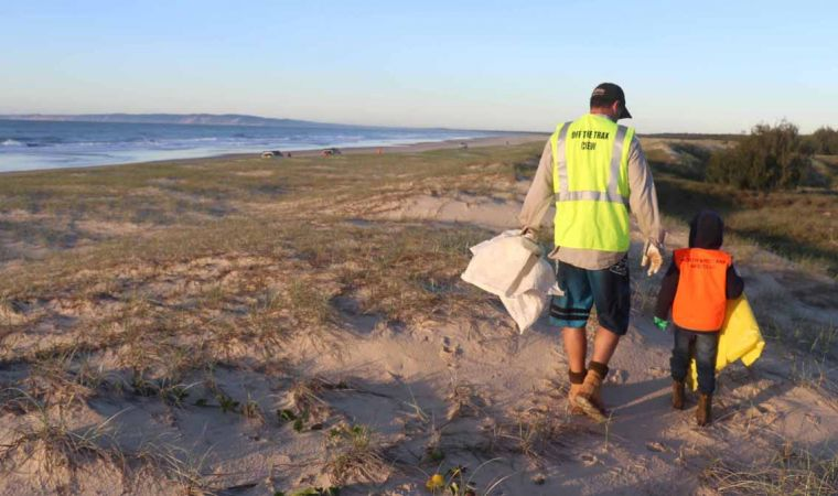Fraser Island Clean Up Father Son