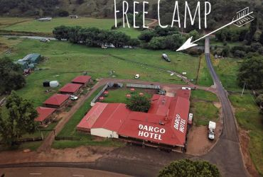Free camping along creek at Dargo Hotel