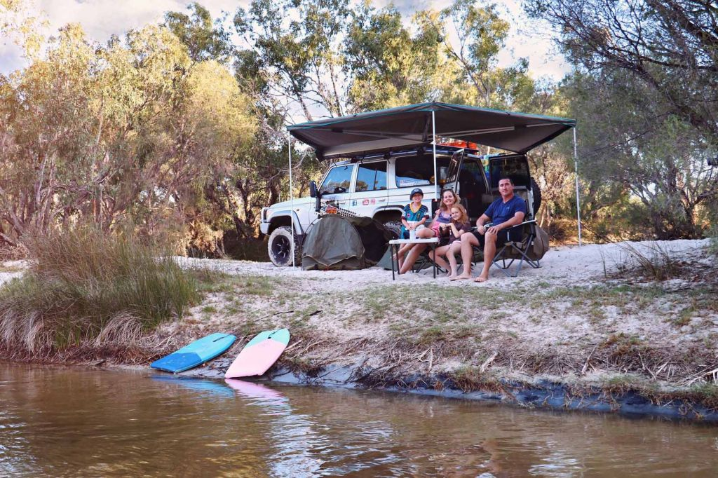 Family Shot Camping and 4WD by the creek