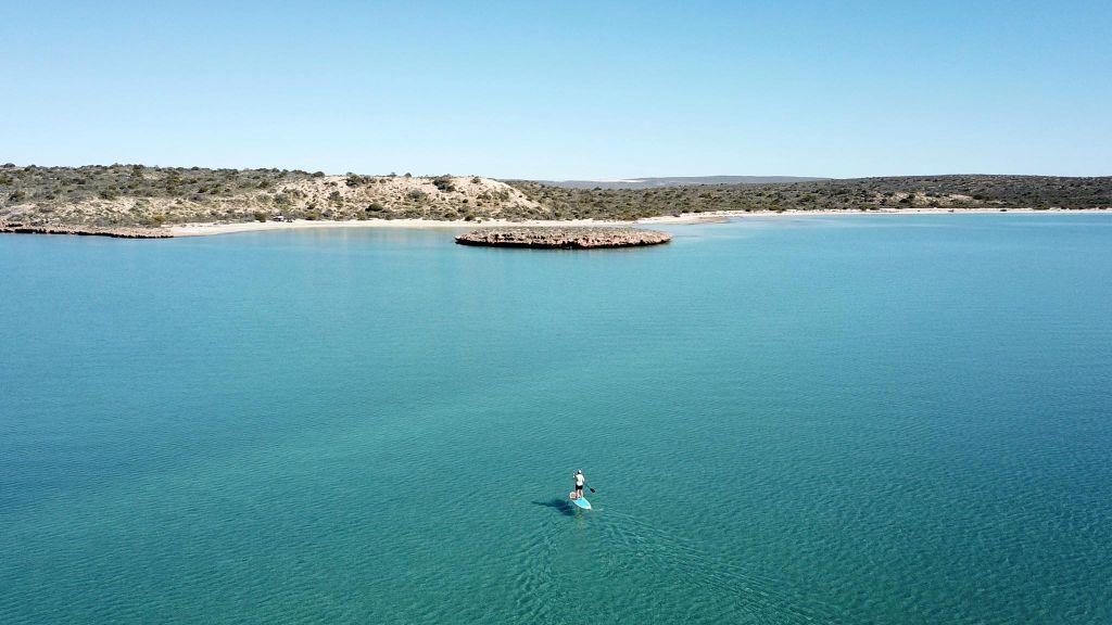 Paddle Boarding at Tamala Station Shark Bay