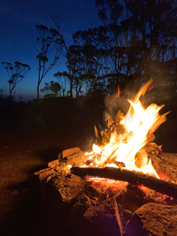 Silver Wattle Hill Reserve Campground Fire