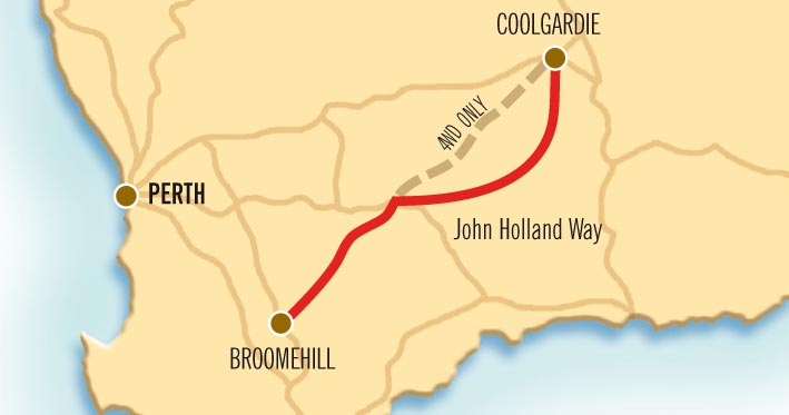 Holland Track and John Holland Way Map
